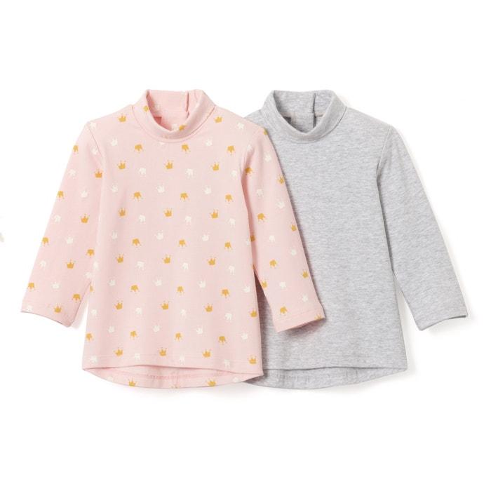 T-shirt collo a dolcevita 1 mese - 3 anni (conf. da 2)  La Redoute Collections image 0