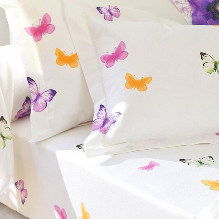 Drap housse colibri satin 80fils violet tradition des - Drap housse 140x190 violet ...