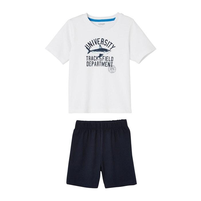 08163c4bf02da Lot de 2 pyjashorts garçon combinables bleu Vertbaudet