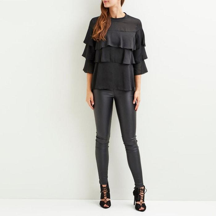 Blusa lisa de cuello alto, con manga larga  VILA image 0