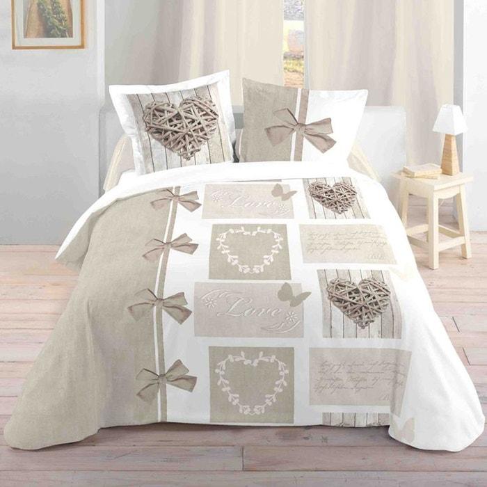 parure de lit love 240 x 260 cm storex la redoute. Black Bedroom Furniture Sets. Home Design Ideas