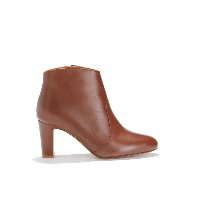 Boots à haut talon cuir LA CACHOTIÈRE  BOBBIES image 0