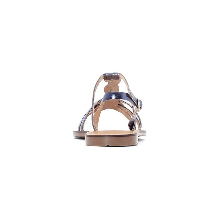 Sandales cuir métallisées bride tressée La Redoute Collections