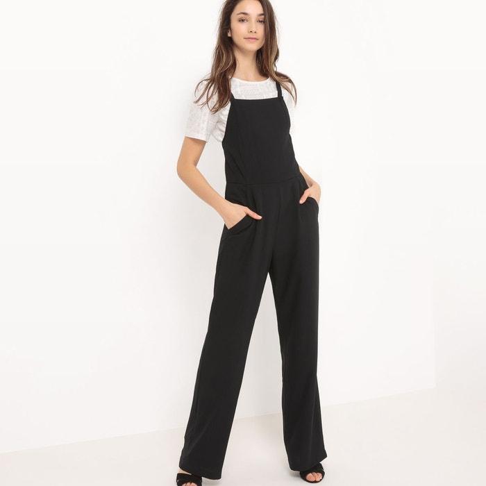 combinaison pantalon chasuble noir r edition la redoute. Black Bedroom Furniture Sets. Home Design Ideas
