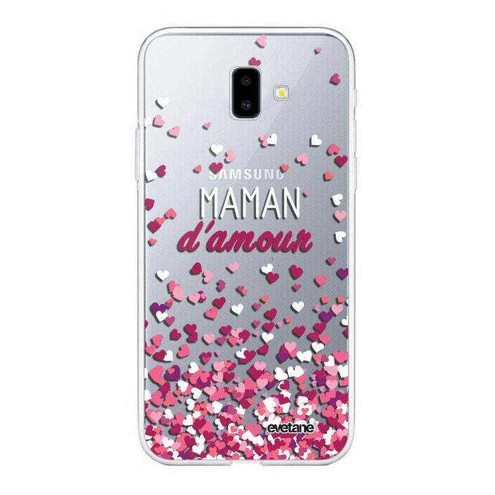best prices wholesale order online Coque Samsung Galaxy J6 PLUS 2018 souple silicone transparente Maman damour