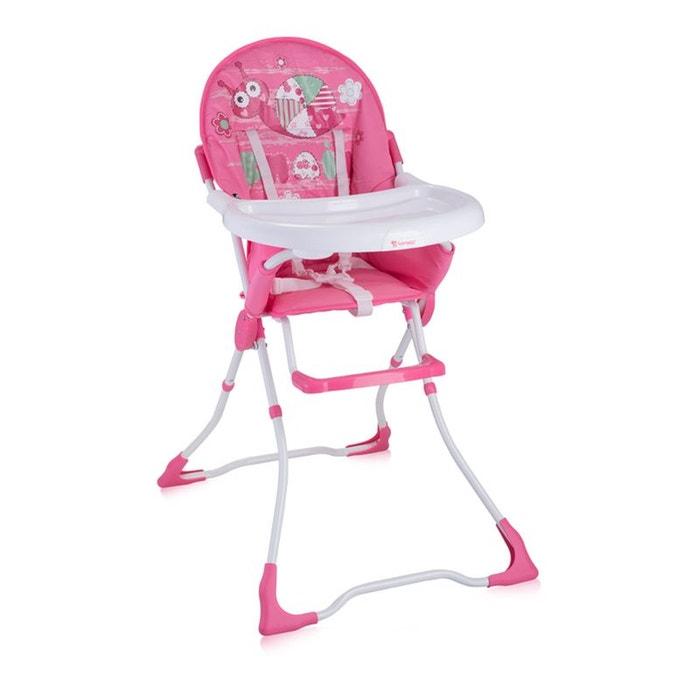 chaise haute pour b b candy rose lorelli lorelli la redoute. Black Bedroom Furniture Sets. Home Design Ideas
