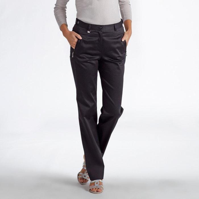 Pantaloni dritti, satin di cotone stretch  ANNE WEYBURN image 0