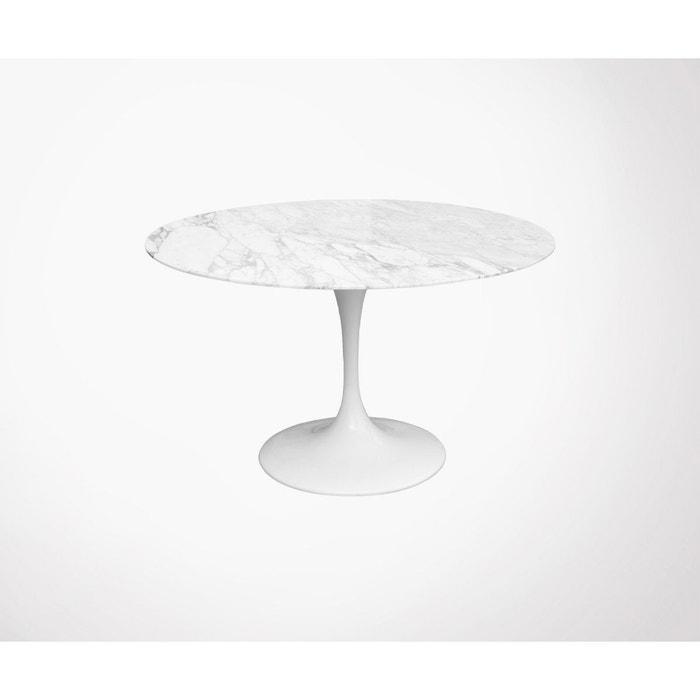 Table à Manger Ronde Marbre 90cm Noress Blanc Meubles Design La