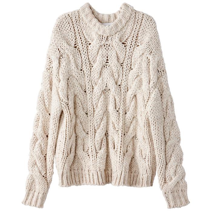 con de grueso Redoute La trenzados lana Collections Jersey de punto gWZgXR0n