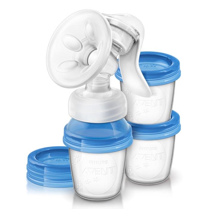 SCF330/13 Manual Breast Pump + 3 Storage Pots