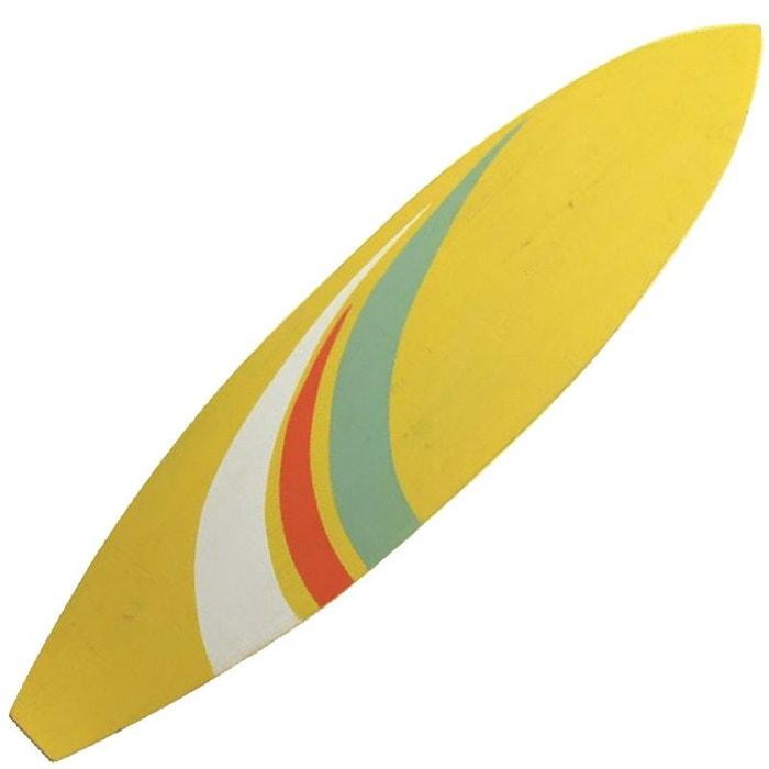 Grande d coration murale en bois planche de surf jaune 108 for Decoration murale la redoute