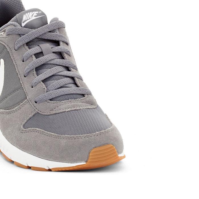 Baskets basses à lacets, cuir et mesh, nightgazer gris Nike