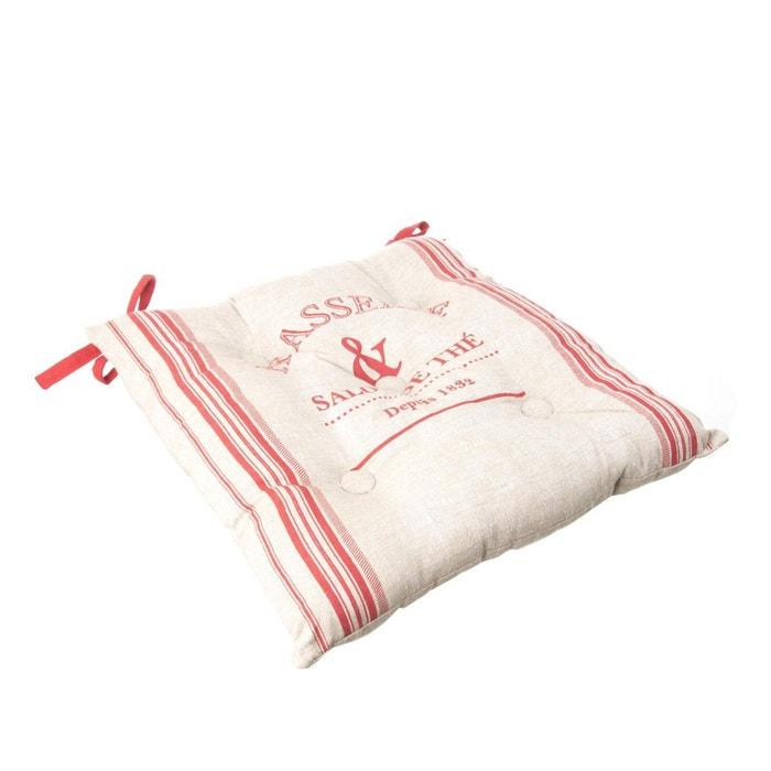 Galette de chaise bistrot 40 x 40 cm rouge rouge atmosphera la redoute - Housse de chaise la redoute ...