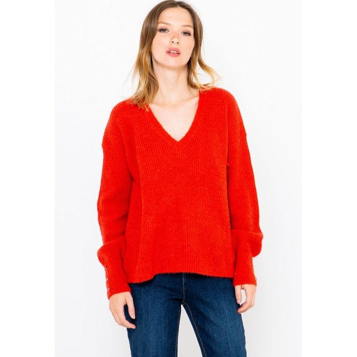 pull rouge femme camaieu