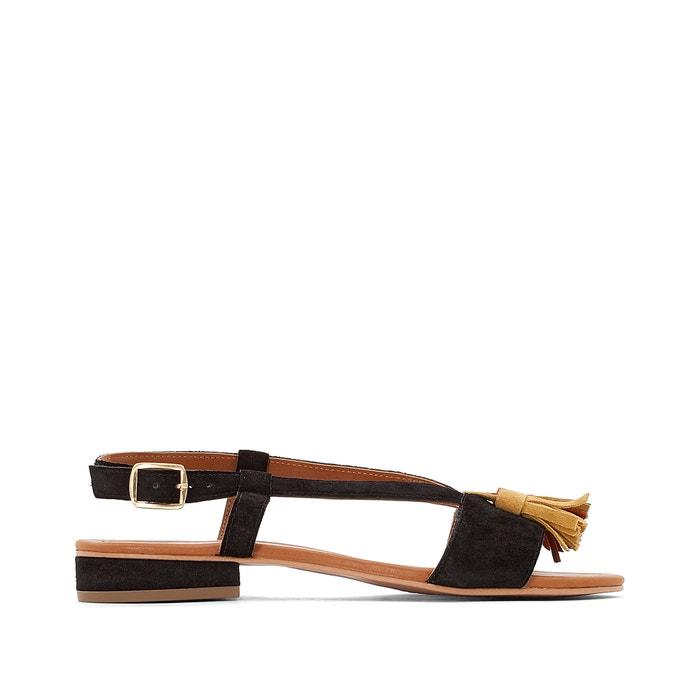 Wide Fit Flat Leather Sandals, Sizes 5-10  CASTALUNA image 0