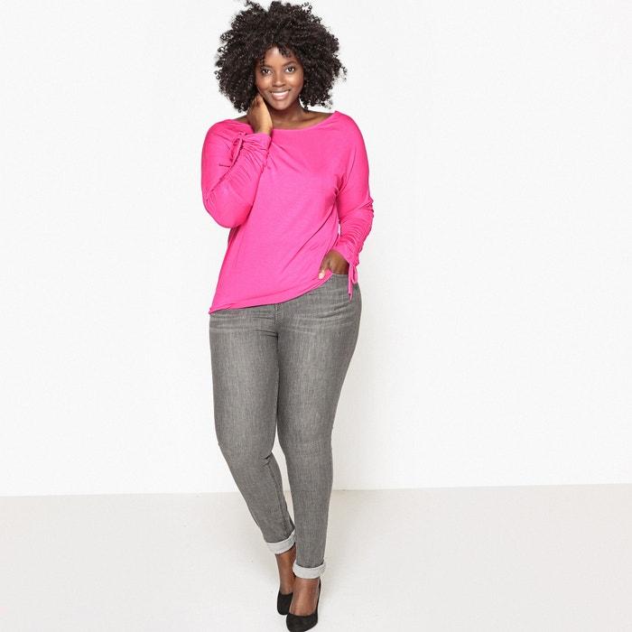 195a8b40a Ruched sleeve t-shirt Castaluna Plus Size | La Redoute