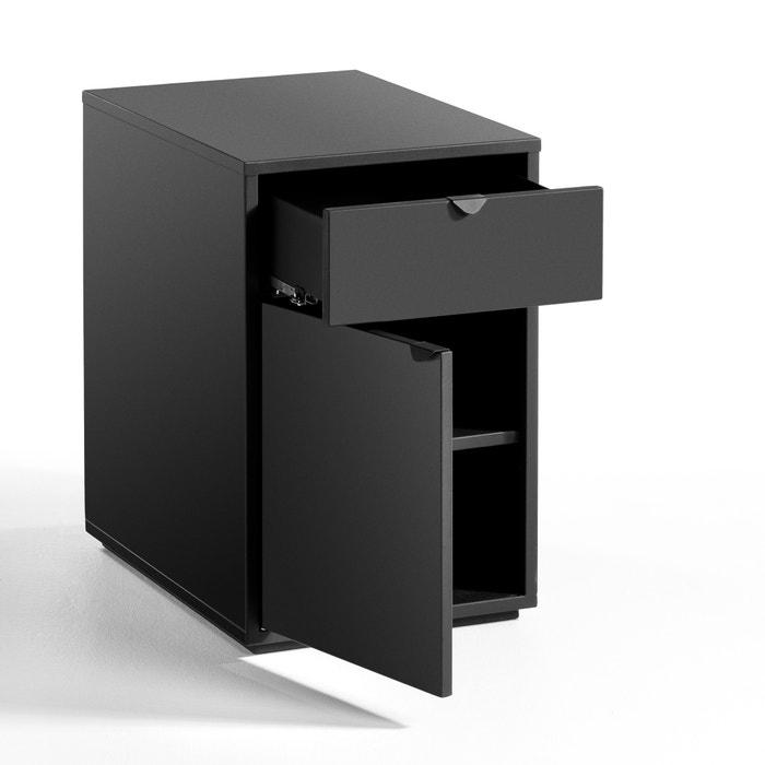 caisson de bureau 1 tiroir 1 porte angus carbone am pm la redoute. Black Bedroom Furniture Sets. Home Design Ideas