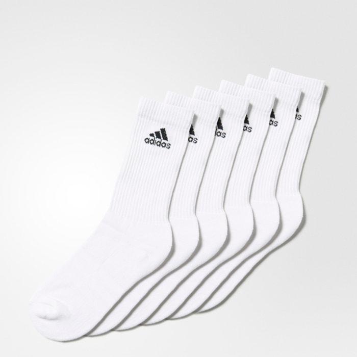 5a47338d98 Pack of 6 3-Stripes Boys Crew Socks