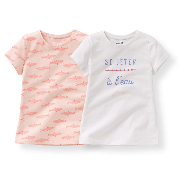 Image Tee shirt col rond imprimé, manches courtes La Redoute Collections