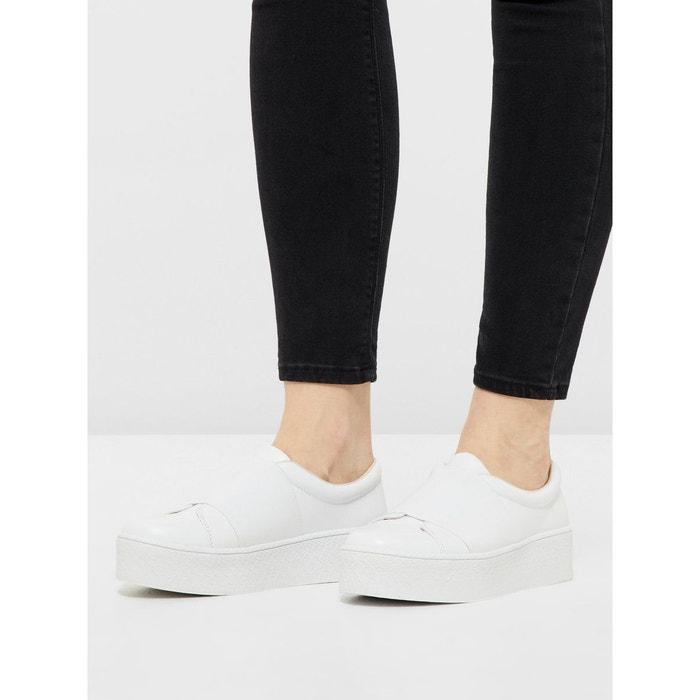 Chaussures cuir plateforme Bianco Qualité Supérieure En Ligne 00UPo2