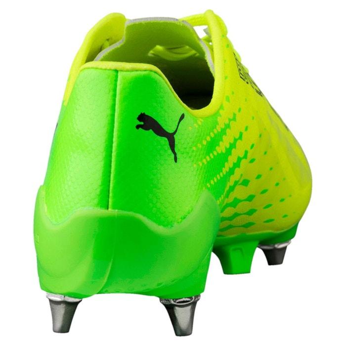 Chaussure de foot evospeed 17 sl-s mx sg pour homme safety yellow-puma black-green gecko Puma