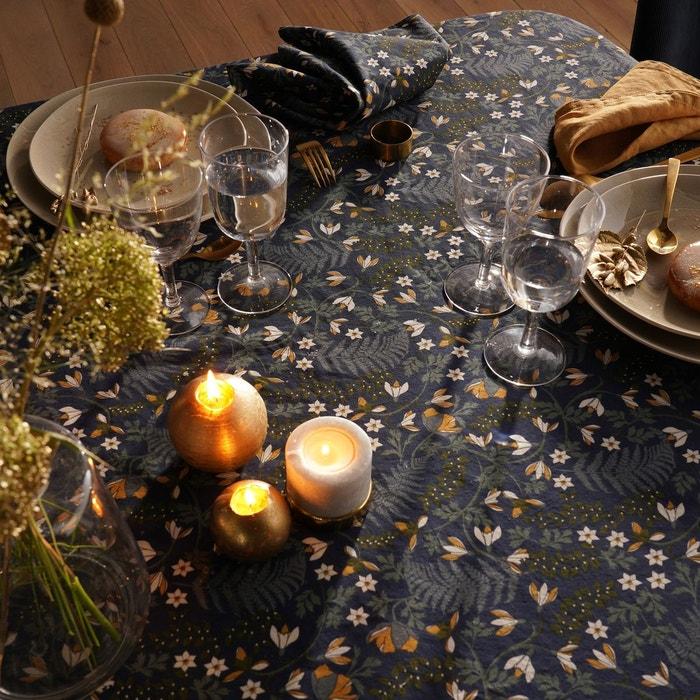 Nappe imprimé floral coton lavé longina imprimé...