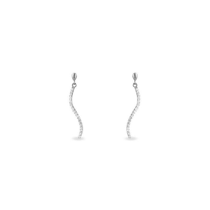 Boucles d'oreilles or blanc Histoire D'or | La Redoute Boutique En Ligne De La France Jeu Combien Marque Pas Cher Nouvelle Unisexe n6R5mx