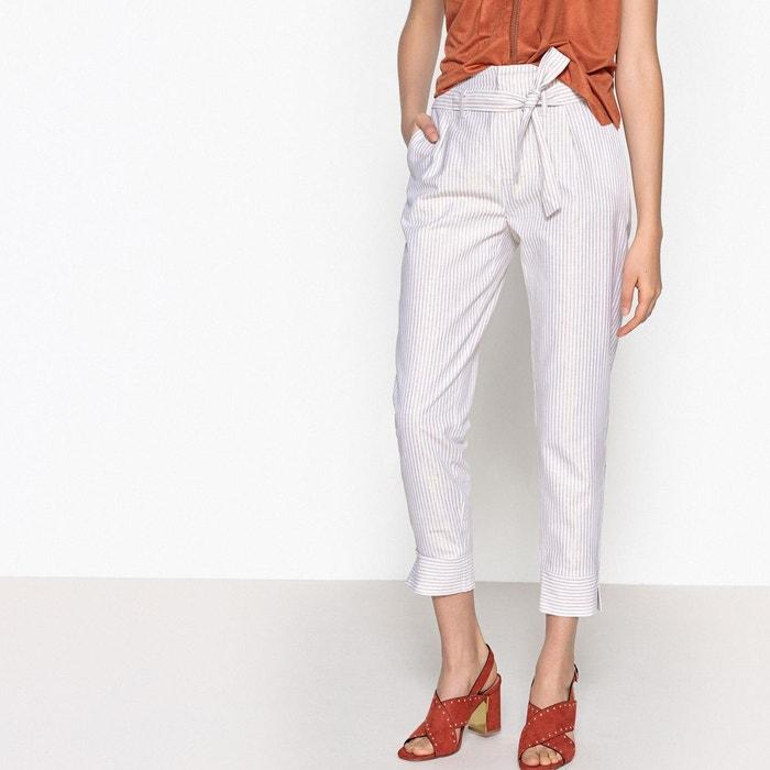 Pantalon droit à rayures, ceinturé sous passants  LPB WOMAN image 0