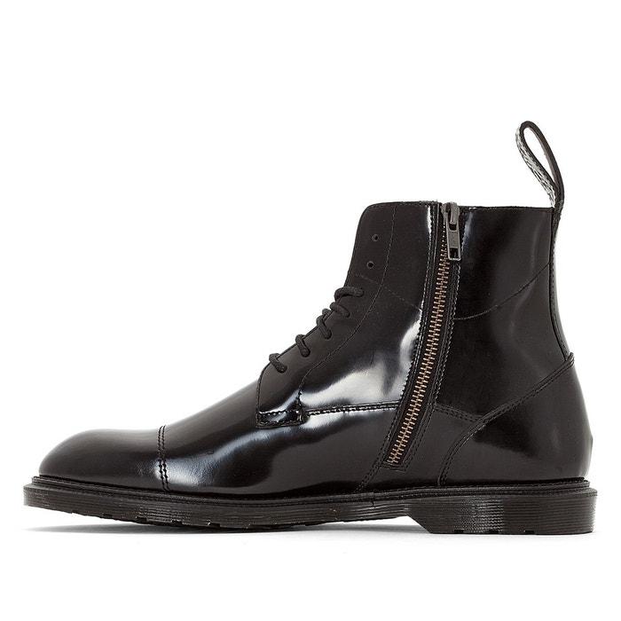 Boots cuir zippées et lacées winchester noir Dr Martens