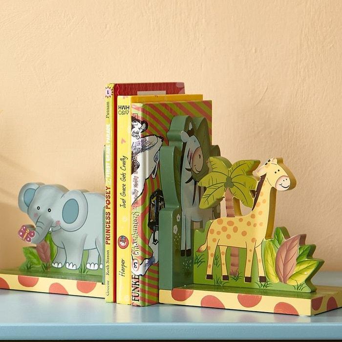 Serre Livres Enfant Deco En Bois Sunny Safari
