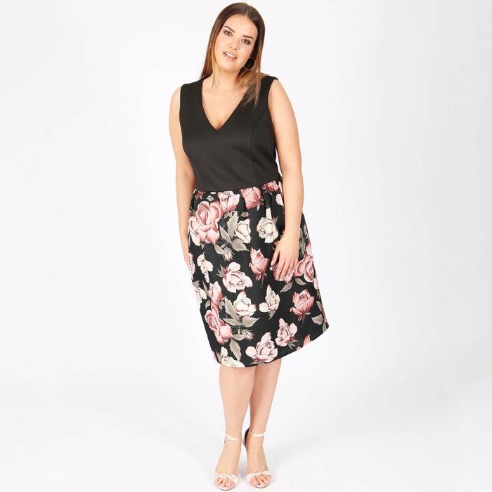 mangas con Vestido tejidos LOVEDROBE dos flores de sin estampado EPtPnx8q4