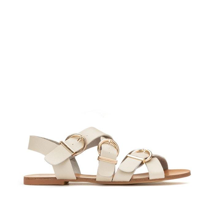 Sandales à multibrides talon plat