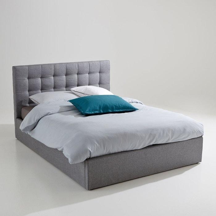 lit coffre avec sommier relevable gennie gris la redoute interieurs la redoute