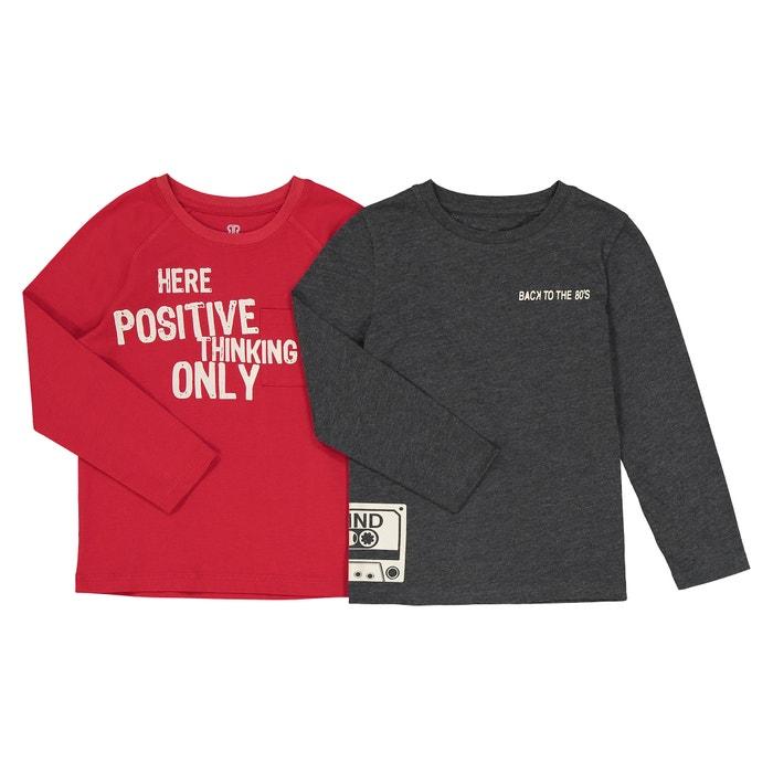 Confezione da 2 t-shirt maniche lunghe 3 - 12 anni  La Redoute Collections image 0