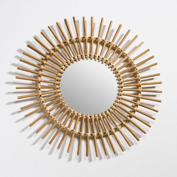 Miroir rotin forme soleil vintage, Nogu La Redoute Interieurs