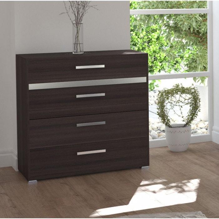 commode 4 tiroirs imitation ch ne vulcano et gris co124 bois naturel terre de nuit la redoute. Black Bedroom Furniture Sets. Home Design Ideas