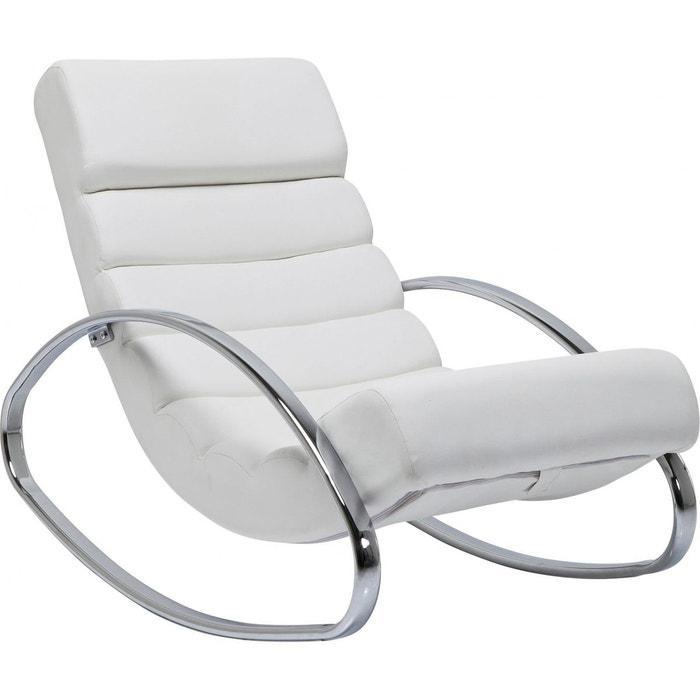 fauteuil rocking chair manhattan blanc kare design couleur. Black Bedroom Furniture Sets. Home Design Ideas