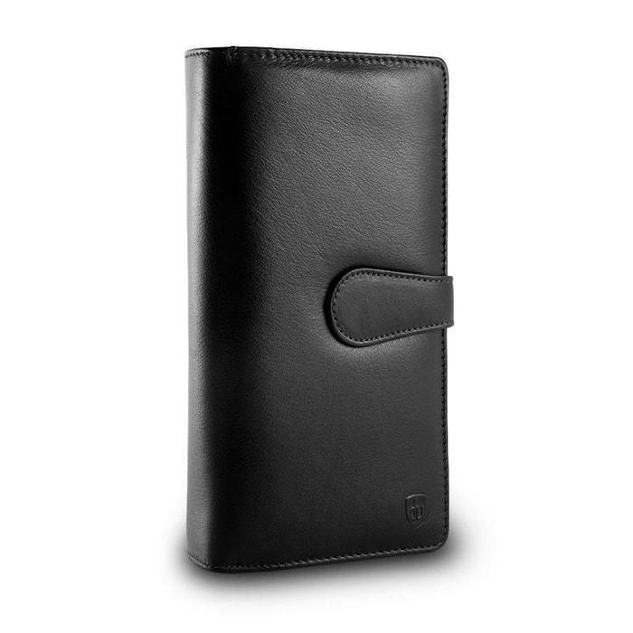 Grand portefeuille pour femme en cuir avec doubles poches porte Choisir Un Meilleur Prix Pas Cher OztW2O3