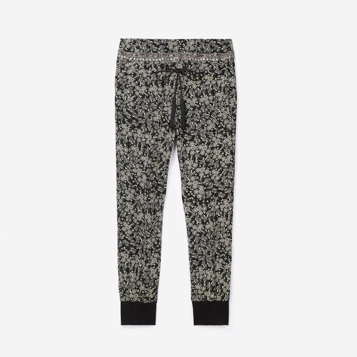 pantalon en soie the kooples noir blanc la redoute. Black Bedroom Furniture Sets. Home Design Ideas