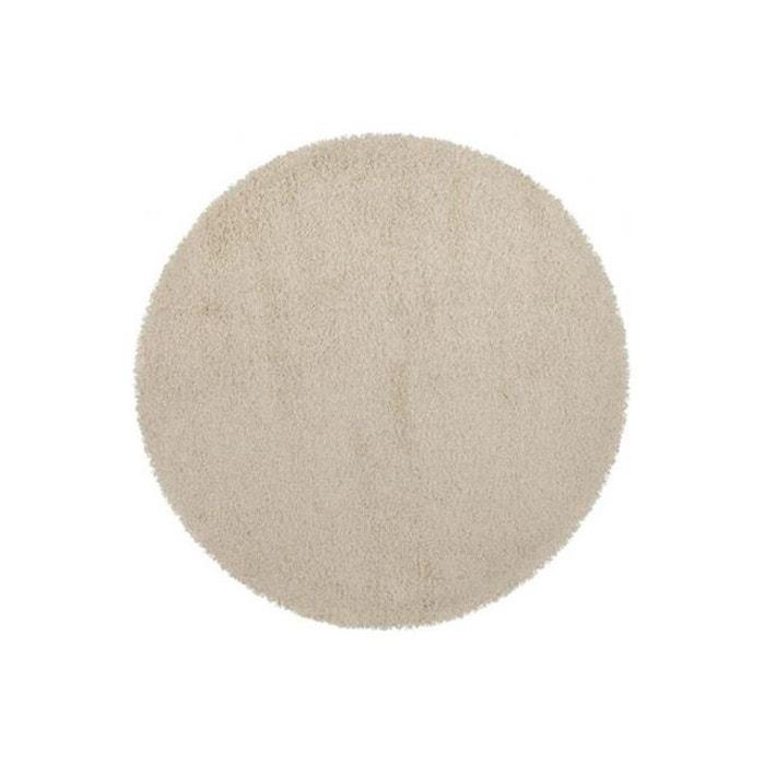tapis rond cr me 160 x 160 x 3 cm chance textile declikdeco la redoute. Black Bedroom Furniture Sets. Home Design Ideas