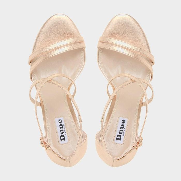 Sandales à talons et brides croisées - mariela or_rose cuir Dune London
