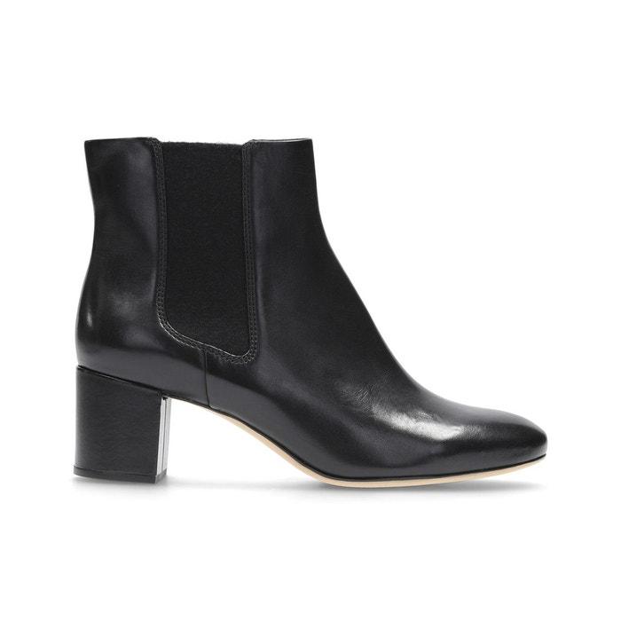 Boots cuir orabella anna noir Clarks