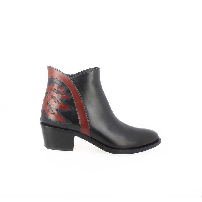 Boots western cuir, modèle iconique noir Sartore
