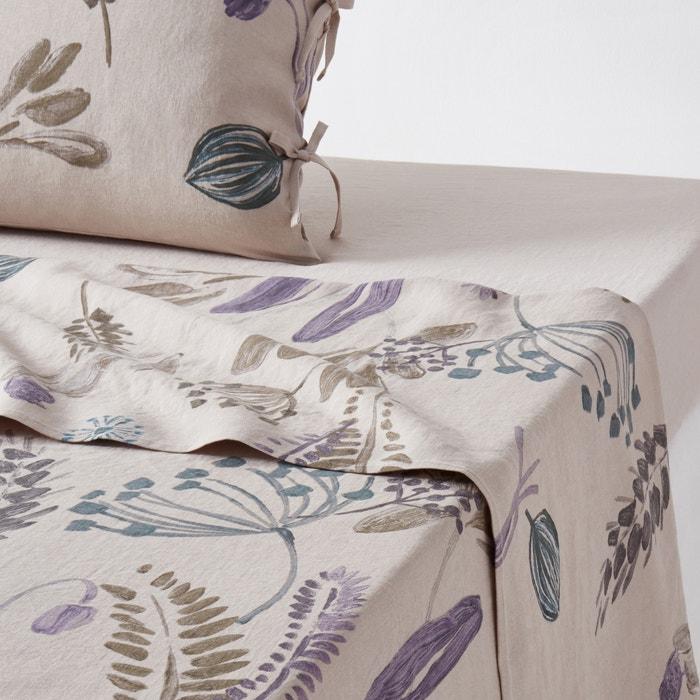 afbeelding Plat laken, zuiver gewassen linnen, Craft Garden La Redoute Interieurs