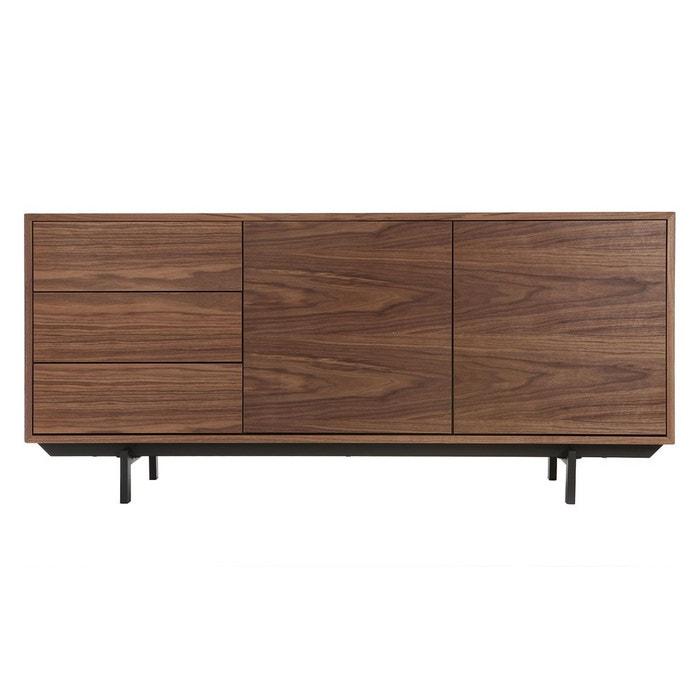 buffet design vintage 160 cm noyer manny noyer noir miliboo la redoute. Black Bedroom Furniture Sets. Home Design Ideas