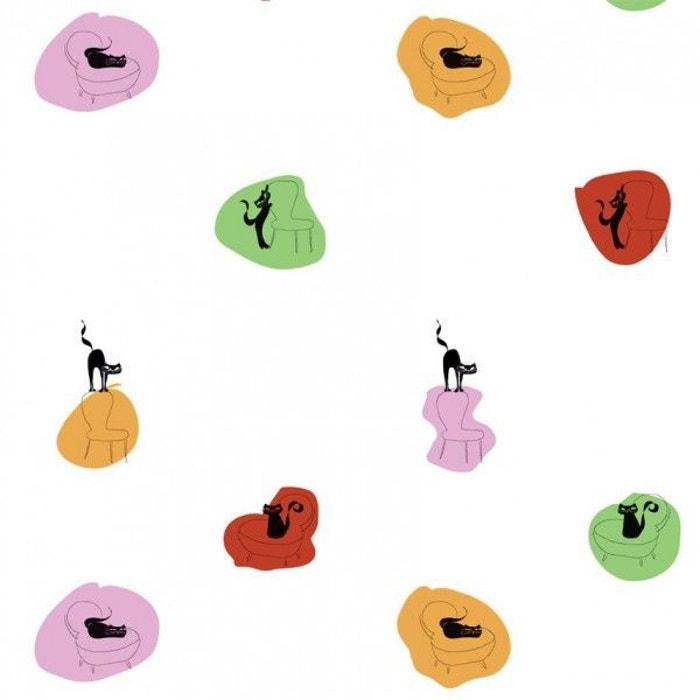 papier peint enfant chats color s multicolore decoloopio la redoute. Black Bedroom Furniture Sets. Home Design Ideas