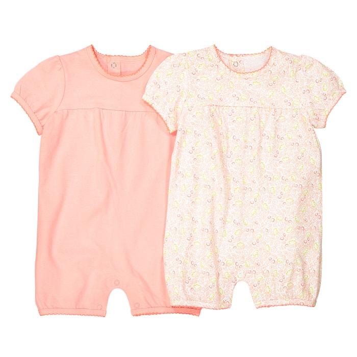 Confezione da 2 tuta-shorts Oeko Tex da 1 mese a 3 anni  La Redoute Collections image 0