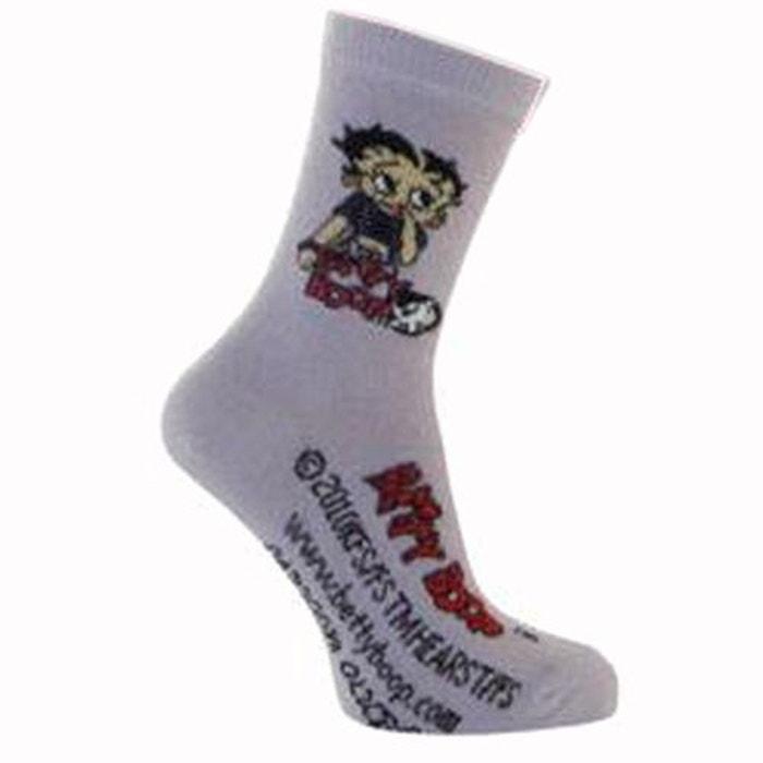 2 Paires de chaussettes Betty Boop violettes 31-34