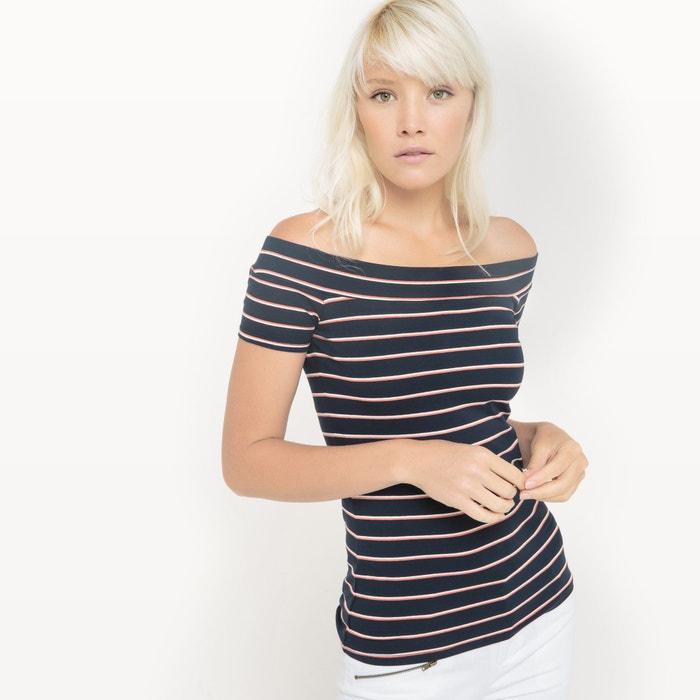 Imagen de Camiseta a rayas con los hombros descubiertos R édition