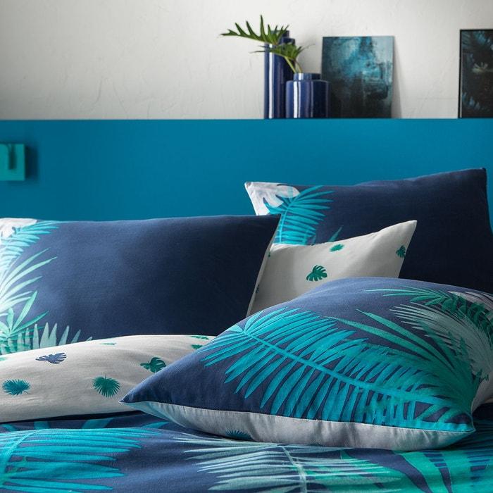 taie d 39 oreiller imprim fantaisie d inspiration jungle et aquarelle 100 coton matt et rose. Black Bedroom Furniture Sets. Home Design Ideas